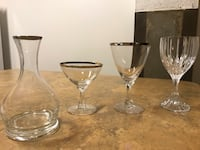 Crystal Wine Glasses, Silver Rimmed Martini Glasses + Decanters Kansas City, 64108