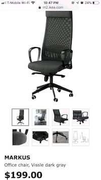 Gently used IKEA office chair for $99 Fairfax, 22032