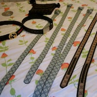 black and white leather belt Gainesville, 32605