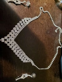 Wedding necklace and earings