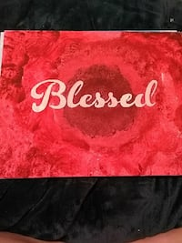 red and white Blesses painting