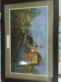 brown wooden framed painting of house Saint Johnsbury, 05819