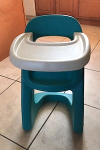 Teal colour step 2 hard plastic doll highchair. Halifax, B3T 1S7