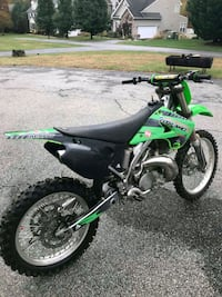 green and black Kawasaki motocross dirt bike Upper Marlboro, 20772
