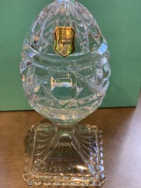 Genuine Handcut 24% Lead Crystal Egg Made in Poland Palo Alto