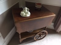 Gorgeous antique tea service cart