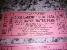 Blue bayou water park and Dixie landin theme park