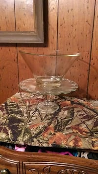 Cake stand and punch bowl, together or separate  Chunky, 39323