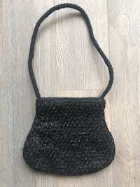NEW Black Beaded/Embroidery Purse Markham, L3R