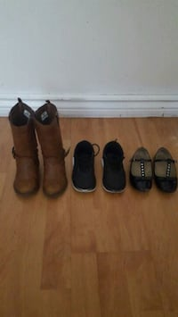 three pairs of black leather shoes Toronto, M1P 2X9