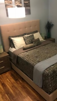 Brand new queen cloth headboard