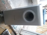 black and gray JBL subwoofer null