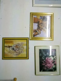 three brown wooden framed painting of flowers Houston, 77096
