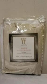 NEW!! 100% COTTON, TAILORED, LIGHT SAND-COLORED, QUEEN-SIZE BEDSKIRT. Arlington, 22204