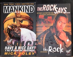WWE The Rock & Mankind book lot