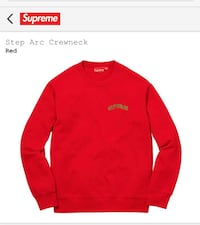 SUPREME RED SOLD OUT CREWNECK LIMITED