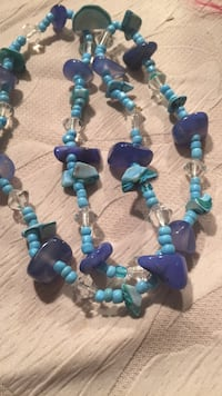 blue and white beaded necklace Corona, 92879