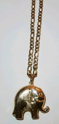 gold-colored chain necklace with pendant Silver Spring, 20904