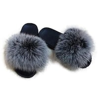 Fur slipper slides Toronto, M1C