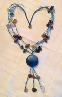 Necklace with semi-precious 'stones' , like new! Surrey