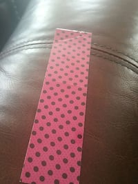red and black polka-dot bookmark Indian Trail