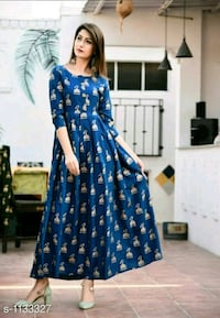 women's blue and white floral dress Ahmedabad, 380015