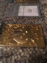 Gold plated Pokemon card  Cashmere, 98815