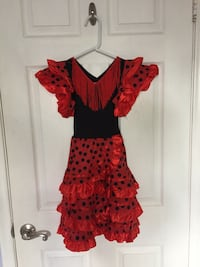 Women's red and black floral spaghetti strap dress Hollywood, 33021