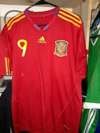 red and white Adidas jersey shirt Brownsville, 78520