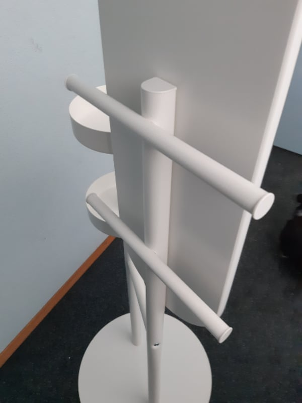 6' White Mirror Stand (Commercial Quality)  f6de3053-b3bd-4691-bfe3-cce89b2fa0f8