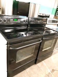 BLACK ELECTRIC STOVES WORKING PERFECTLY 4 MONTHS WARRANTY
