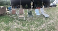 Five Aluminum framed chairs Fowlerville, 48836