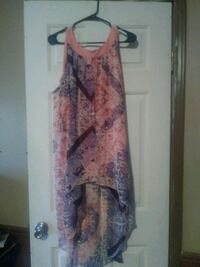 women's pink and white floral sleeveless dress Gautier, 39553