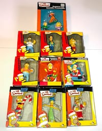 The simpson's christmas holiday ornaments 10 total xmas tree ornaments new in boxes bart homer marge lisa barney apu