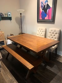 Pier 1 dining room table w/matching bench and 2 chairs Charlotte, 28202