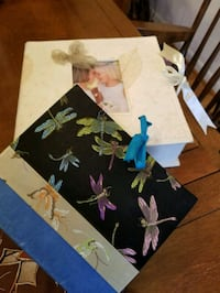 Photo albums with matching storage box. New.