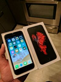 Black space gray iPhone 6s 64 350 firm price Edmonton, T6X 1A4