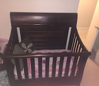 baby's brown wooden crib Gaithersburg, 20877