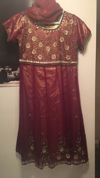 Burgundy and gold Indian suit Brampton, L6T 3G6
