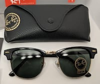 black framed Ray-Ban Clubmaster sunglasses with case TORONTO
