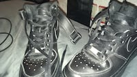 pair of black leather high-top sneakers Holbrook, 02343