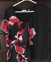 Black top with Floral print Maple Ridge, V4R 2W6