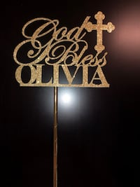 God bless Olivia cake topper Bradford West Gwillimbury, L3Z 0L8