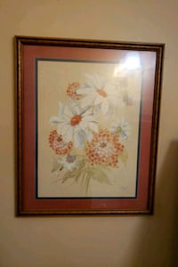white and red flowers painting Hamilton, 45011