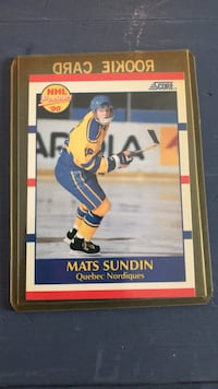 Hockey card  Mats Sundin  Score 1990 Hockey Card Georgetown, L7G 5Y1