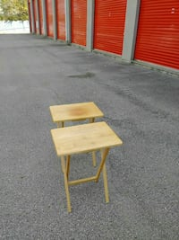 brown wooden side tables