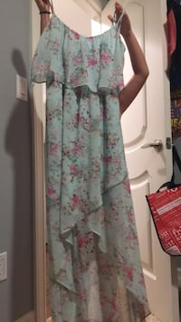 white and pink floral long-sleeved dress Shelby Township, 48315
