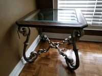 brown iron framed glass top side table Richmond Hill, L4E 3Y8