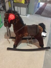 Toddler's brown and black rocking horse toy Edmonton, T5E 6P7