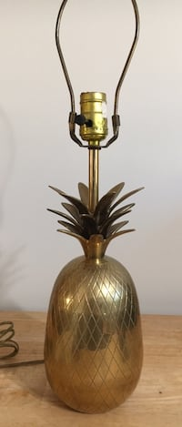 Vintage Mid-Century Brass Pineapple Table Lamp Palos Hills, 60465
